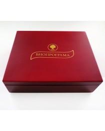 Дървена кутия с 6 вида чай (червена)
