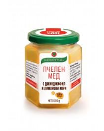 Пчелен мед с джинджифил и лимонови кори 200 гр.